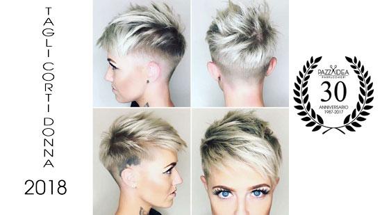 Tagli capelli corti signora 2018
