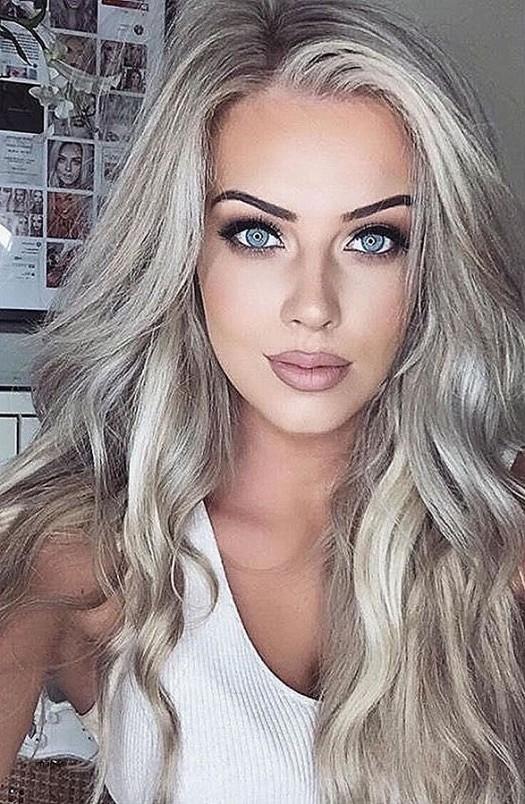 Hair Dye Ideas For Blondes Beautiful Gray hair color ideas 2018 2019 Long Hair Tutorial